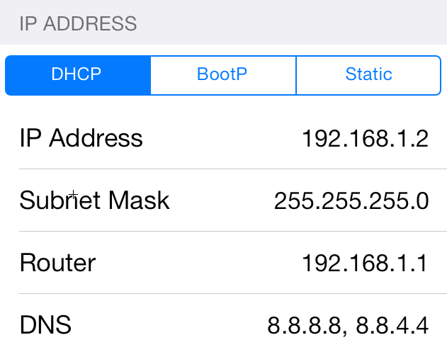 reset iphone dns setting for safari to find server