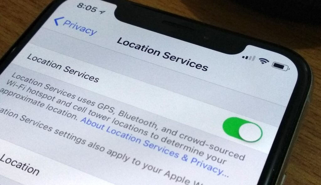 turn off location service iphone
