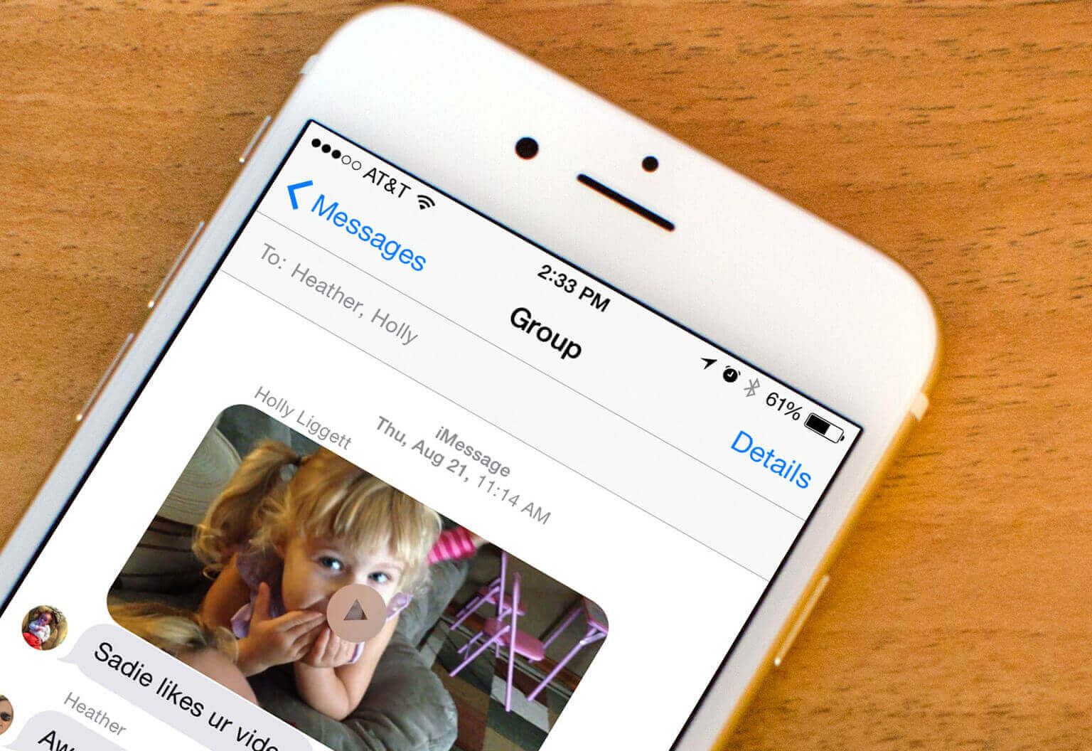 send large videos on iphone