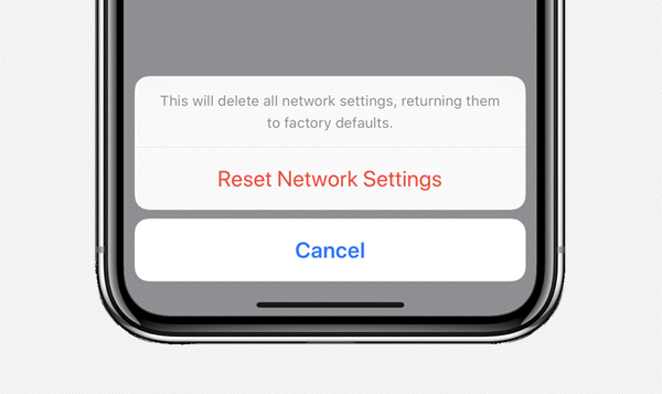 reset network settings to fix imessage waiting for activation