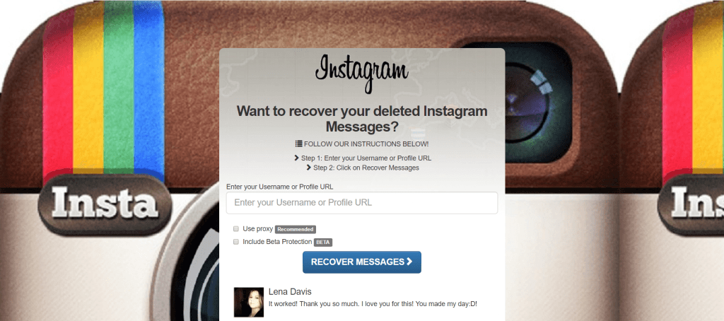 ig message recovery site