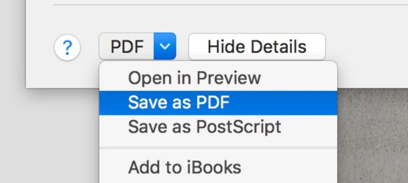 choose save as PDF