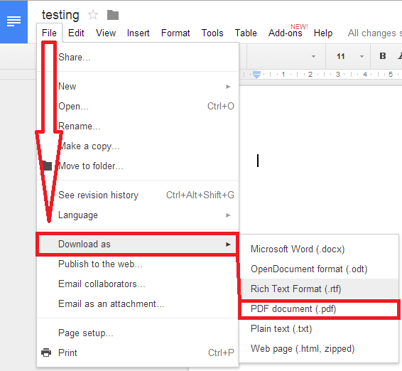 using google drive to convert word to pdf