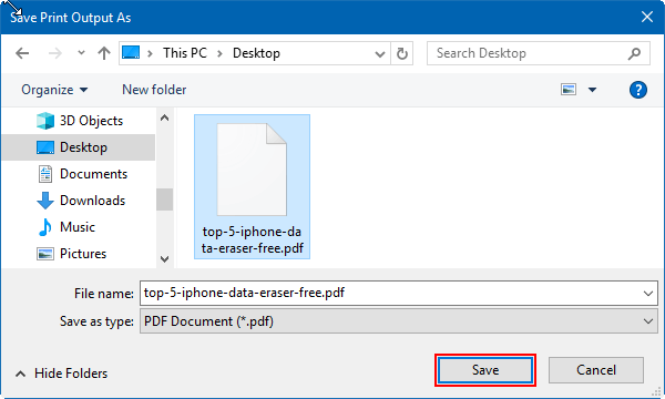 save webpage as pdf on edge