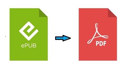 convert epub to pdf