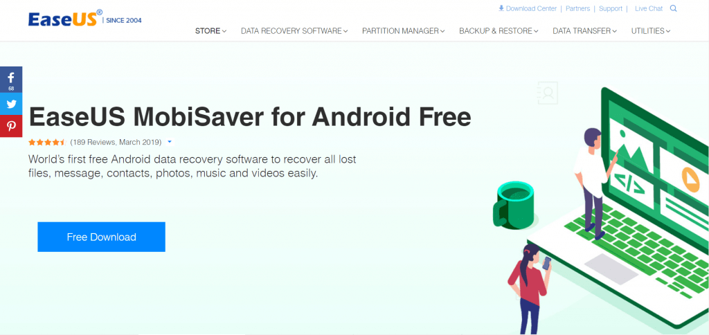 recover deleted photos on samsung with easeus