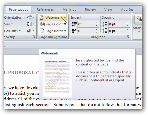 add watermark to pdf using word