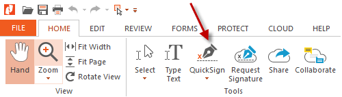 esign a pdf with quicksign