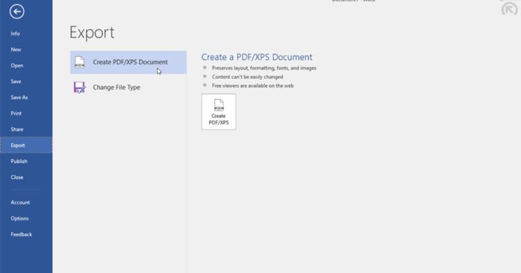 create pdf xps document