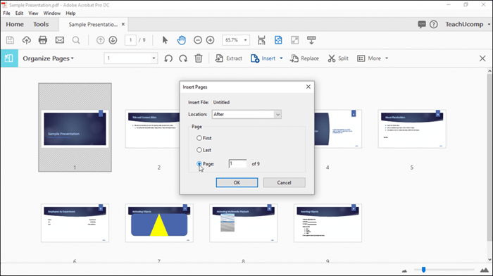 insert pages to pdf acrobat