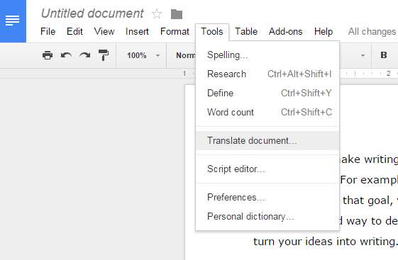 translate pdf in google docs