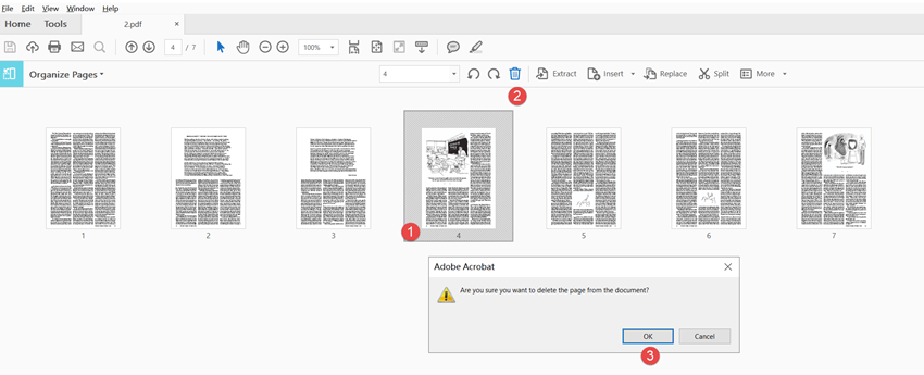 delete pdf pages using adobe step 4