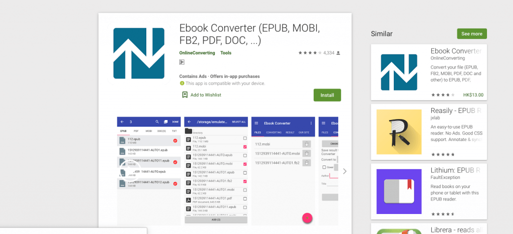 convert epub to pdf on android
