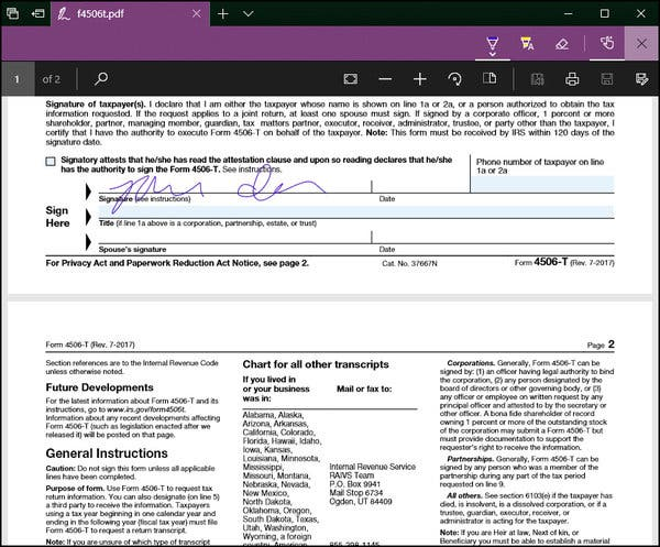 esign a pdf with microsoft edge