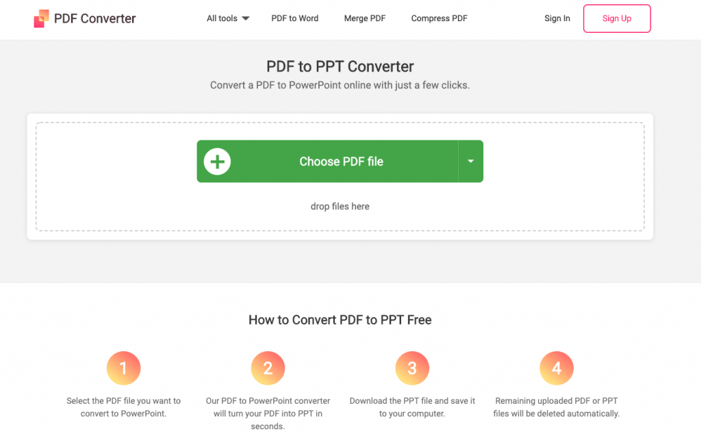 convert pdf to ppt at freepdfconvert.com