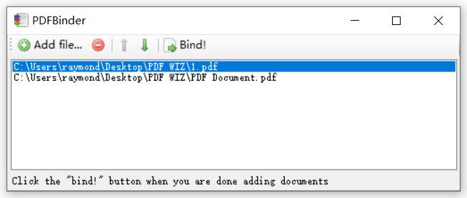 pdfbinder merge files