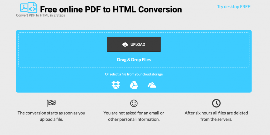 pdf to html website
