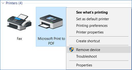 remove microsoft print to pdf