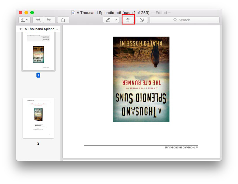 rotate pdf on mac