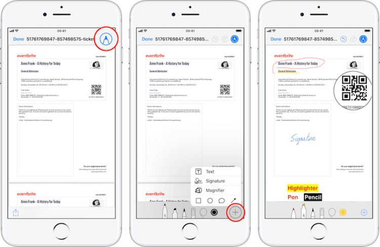 use the mail app to esign pdf