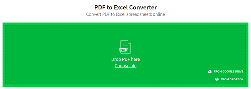 smallpdf pdf to excel converter