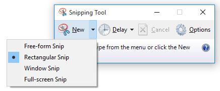 snip modes