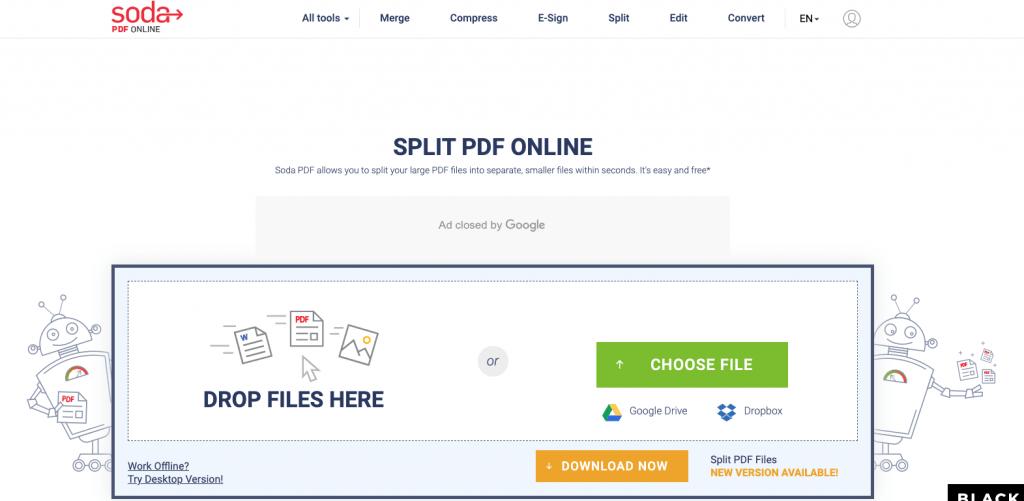 split pdf pages online