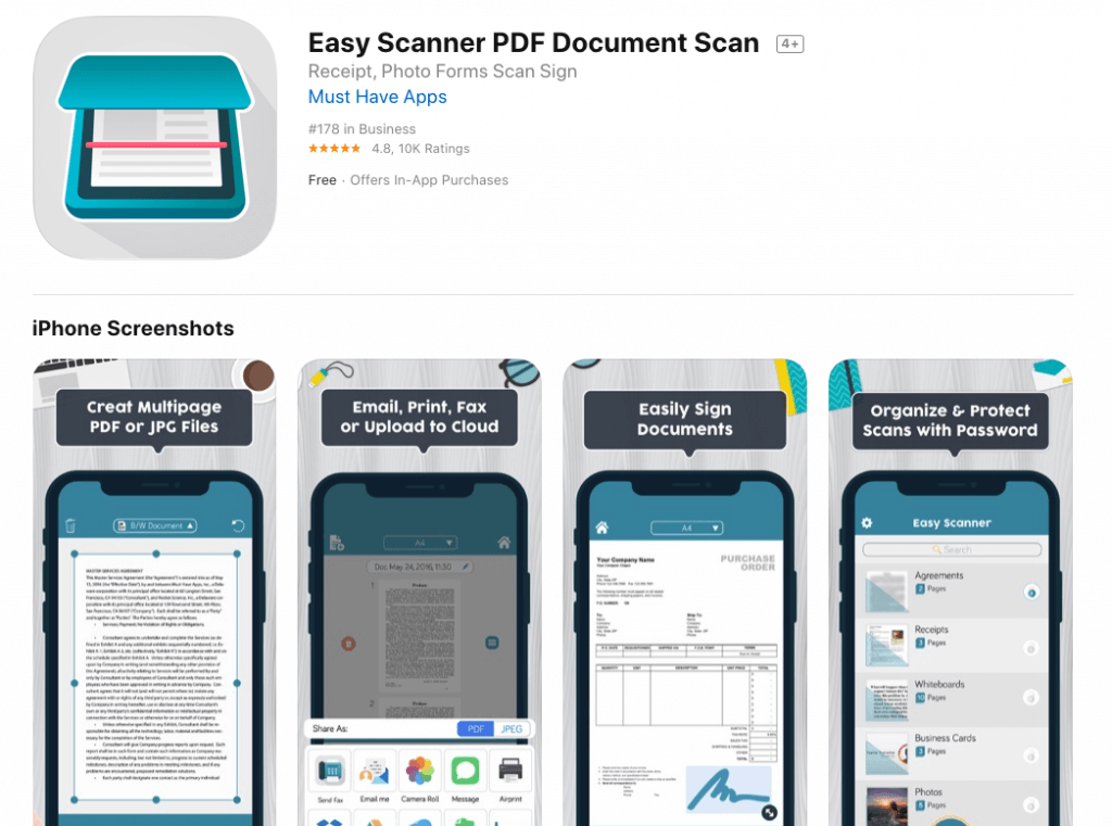 easy scanner for ios
