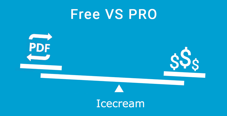 icecream free vs pro