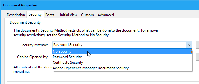 pdf no security