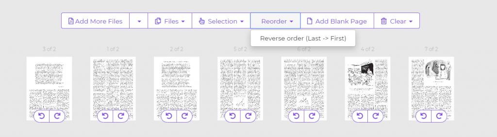 reorder PDF by DeftPDF