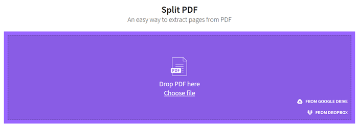 smallpdf page extractor
