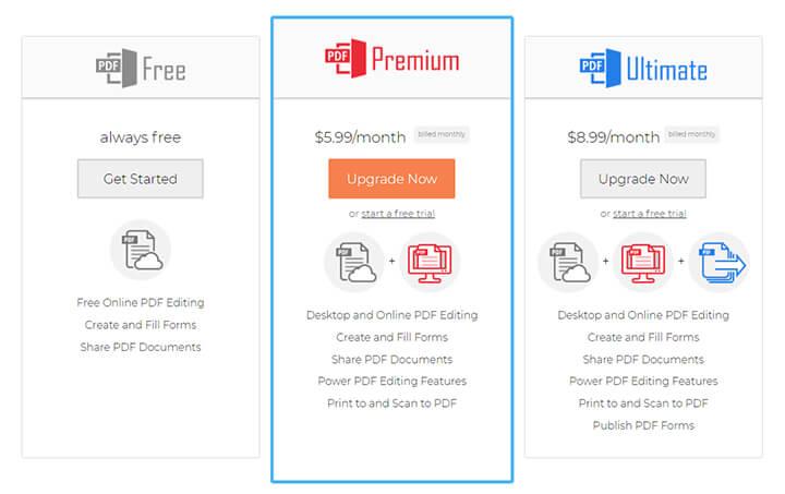 pdfescape pricing