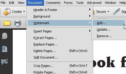 use adobe to remove pdf watermark