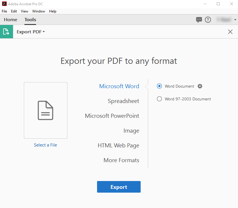 export pdf with adobe
