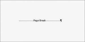 remove page break in word doc
