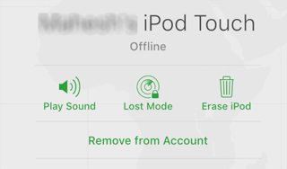erase ipod touch using icloud