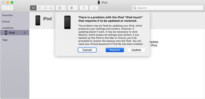 restore ipod touch with itunes