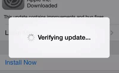 iphone stuck on verifying update