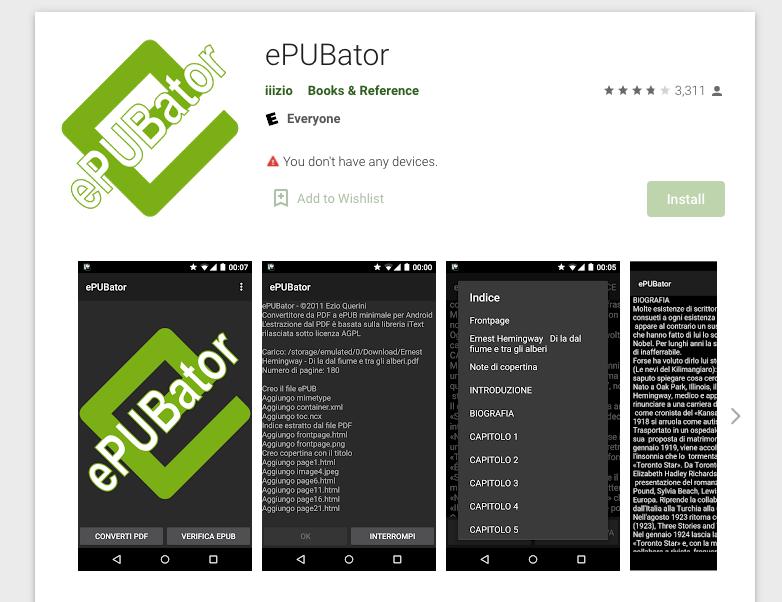 convert pdf to epub on android