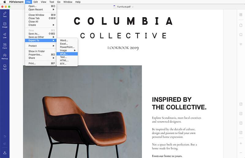 convert pdf to epub on mac