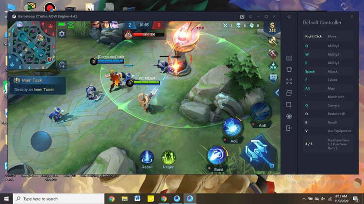 play mobile legend with gameloop