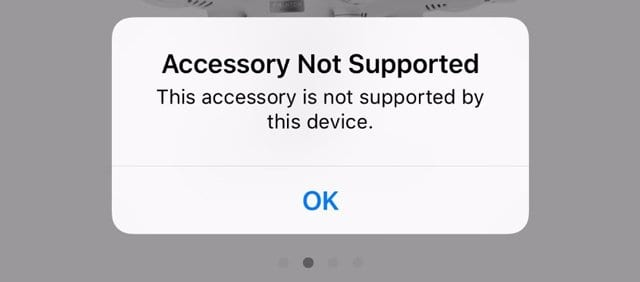accessory not supported issue on ios