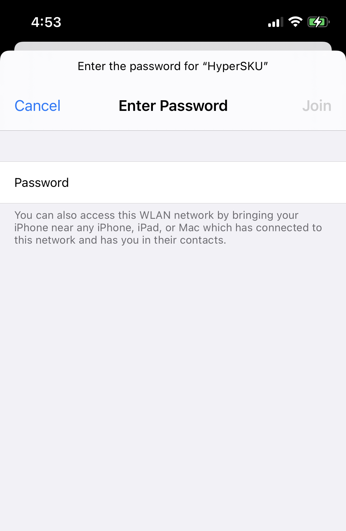 enter password on iphone