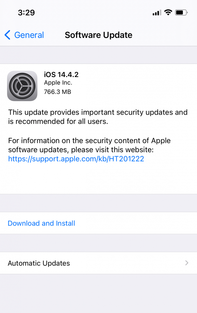 download and update iOS