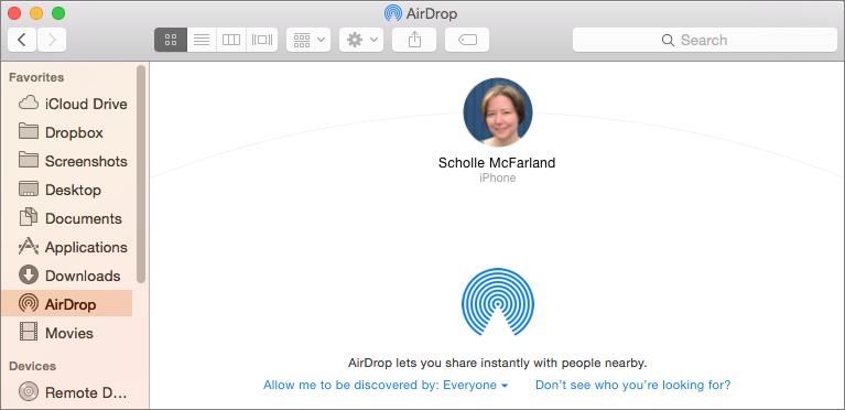 share files with airdrop on mac