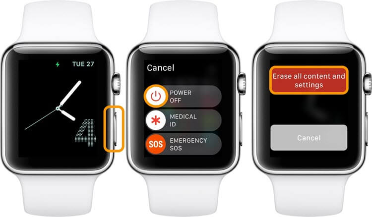 erase apple watch