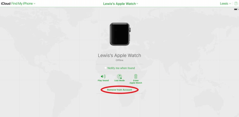 remove apple watch from icloud account