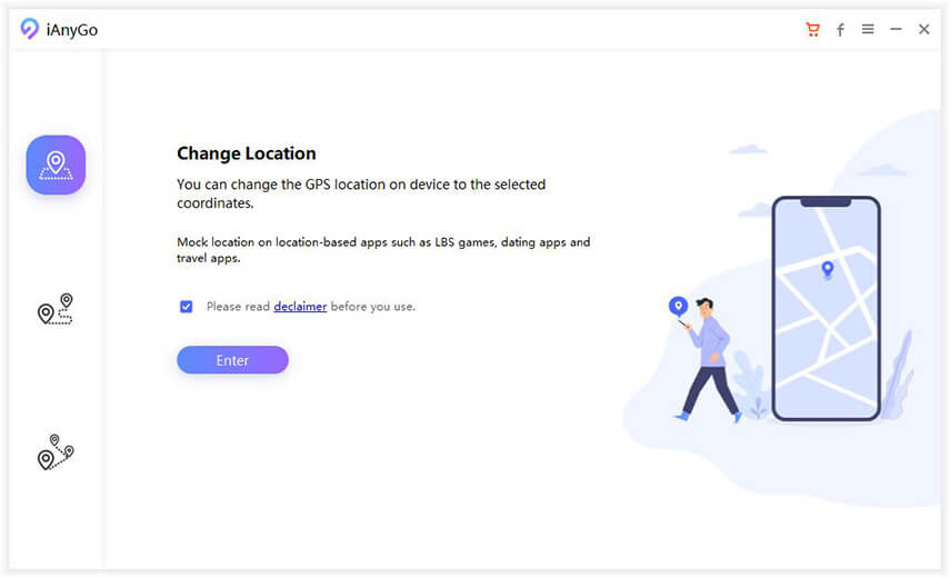 change location mode ianygo
