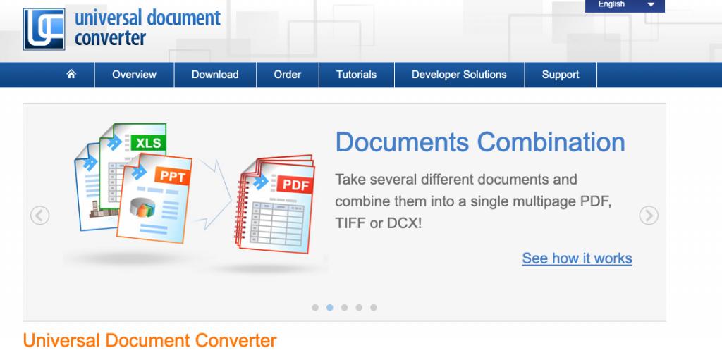 unversal document converter site